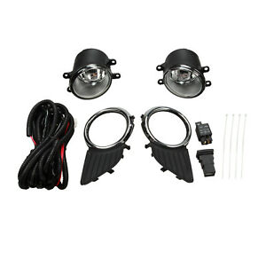Bumper Driving Fog Lights Lamps W Switch Wiring Kit Set Fit 11 17 Toyota Sie
