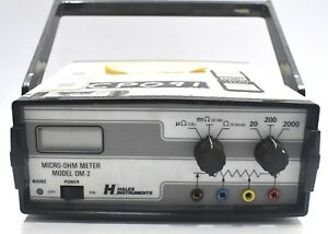 Hales Dm 2 Micro ohm Earth Low Contact Resistance Meter