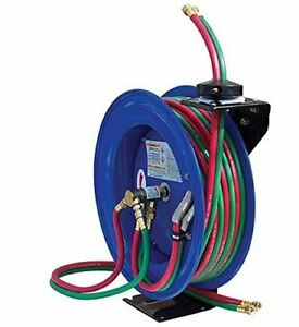 Welding Hose Reel With Two Hoses With Automatic Retractable Reel Features 50