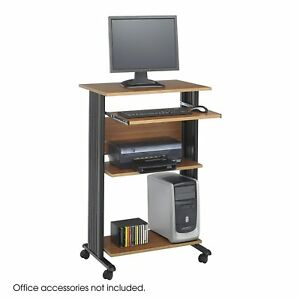 Safco Products 1923cy Muv Stand up Computer Workstation With Keyboard Shelf