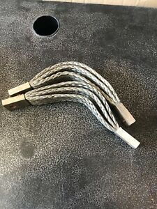 Three New Copper Braid Flexible Busbar Burndy Connector Ground Strap 9 Triple