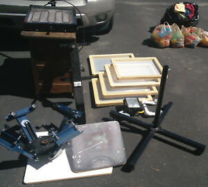 Wow Ryonet 4 color Screen Printing Press With Flash Screens And Many Extras