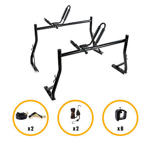 X35 Truck Rack W 8 No Drill C Clamps And Kayak J Racks W 1ton Ratcheting Strap
