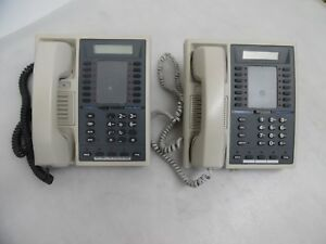 Lot Of 2 Comdial Executech Ii 6600e pg 17 Button Speaker Display Phones