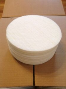 White Floor Pads 8 By 1 4 Floor Buffer Polisher Polish Pads Pack Of 10