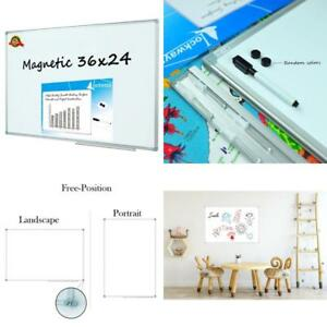 Magnetic Dry Erase Whiteboard White Board 36 X 24 Inch School Home Office