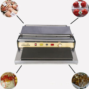 17 45cm Food Tray Wrapper With Stretch Film Hot Plate Overwrapper Machine 110v