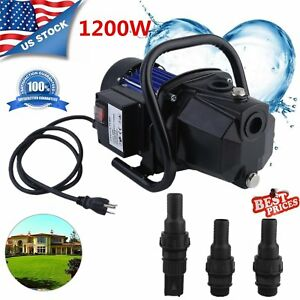 Water Booster Pump 1200w 1 Shallow Home Garden Irrigation 1000gph Draining Bt