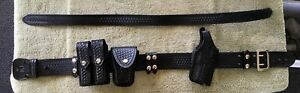 Leather Duty Belt Police Emt Law Enforcement With Extras