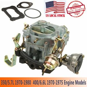 2 Barrels Carb Carburetor Type Fits Rochester Chevy 2gc 307 350 400 Venturi 1 57