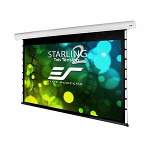 New Elitescreens Tab tensioned Front Motorized Home Theater Projection White