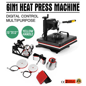 6in1 Digital T shirt Heat Press Machine Multifunctional Baseball Hat Clamshell