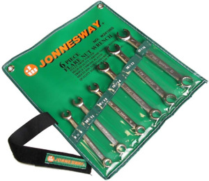 Jonnesway W24106s 6 Pcs Flare Nut Wrench Set Metric 8 19 Mm
