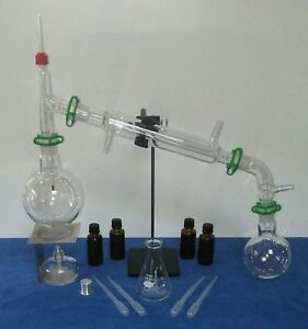 Essential Oil Distillation Kit Hydrosol Oil Lab Chemistry Glass 500ml 24 29