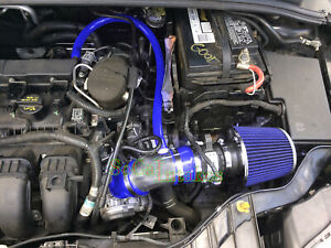 Blue Air Intake Kit Filter For 2012 2014 Ford Focus 2 0l 4cyl