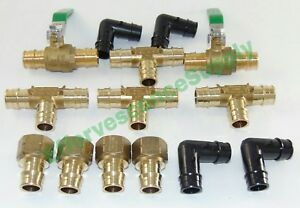 Lot Of 14 Uponor wirsbo 1 2 Propex Fittings Adapter elbows Ball Valve