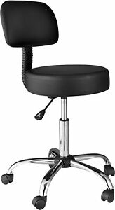 Onespace 60 1018 Medical drafting Stool With Back Cushion Black