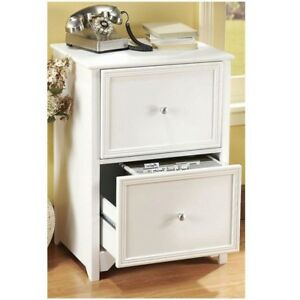 2 drawer File Cabinet Organizer Hard Wood Paper Filing Storage Home Office