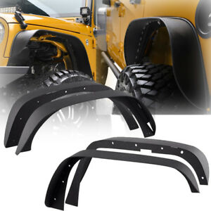 New Fit 07 17 Jeep Wrangler Jk Unlimited Flat Textured Style Fender Flares Steel