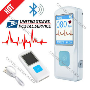 Us Fda Pm10 Portable Ecg Ekg Machine Usb Bluetooth Ecg Monitor App Data Analysis