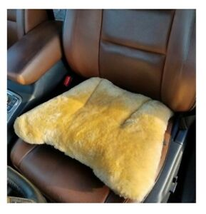 Seville Classics Genuine Sheepskin Short Wool Seat Cushion For Extreme Comfort