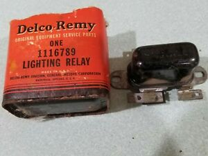 Vintage 1928 1948 Gm 6 Volt Headlight Relay Switch Delco Remy 1116789 B14