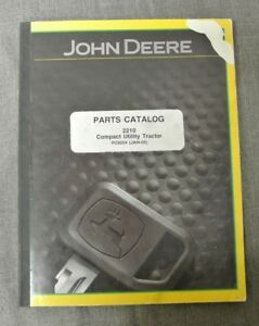 John Deere Parts Catalog 2210 Compact Utility Tractor Pc9254 555 H