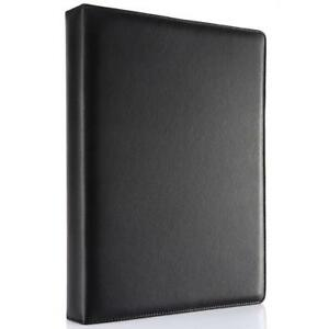 Kingfom A4 Faux Leather Padfolio Ring Binder Business File Folder Document
