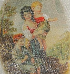 Vintage Antique Tobacco Cigarette Silk Rustic Children Use In Crazy Quilt