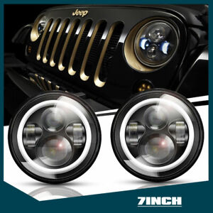 2pcs 7 Inch Round Cree Led Headlight For 1973 1974 1975 1976 1977 Chevrolet C10
