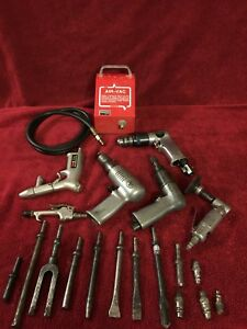 21 Pieces Of Pneumatic Tools Lot Aro Central Pneumatic Snap On