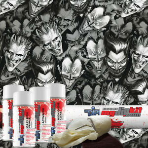 Hydro Dipping Water Transfer Printing Hydrographic Dip Kit Joker Faces Dd 932