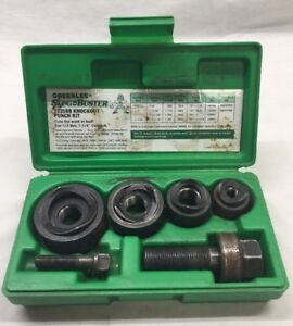 Greenlee 7235bb Slug Buster Knockout Punch Set In Case Nice Kit Look