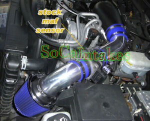 Blue Cold Air Intake System Kit Filter For 1996 2005 Gmc Jimmy 4 3l V6