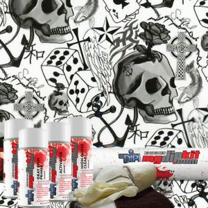 Hydro Dipping Water Transfer Printing Hydrographic Dip Kit Lucky Skulls Ll 490