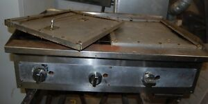 36 Manual Gas Frying Griddle Flat Grill Kitchen Restaurant Cook Top