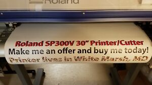 Roland Sp300v Eco solvent Printer cutter Plotter Daige Solo 38 Cold Laminator