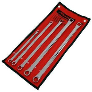 5 Piece Long Aviation Spanner Set 8x10 11x13 14x15 16x17 18x19 New Uk Stock