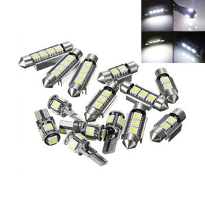 14pcs White Interior Led Light Kit For Bmw 3 Series E90 328i 335i License Trunk
