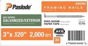 Paslode Framing Nails 3 In X 0 120 Gauge 30 Galvanized Paper Tape 2000 Pieces