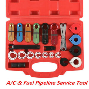 22pcs A c Hose Fuel Pipe Line Disconnect Tool Kit For Ford Gm Us Japanese Car
