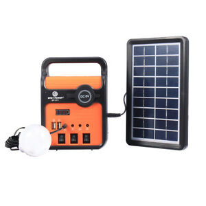 25w Solar Power System Power Generator With Solar Panel Bulbs With Sock Usb Port
