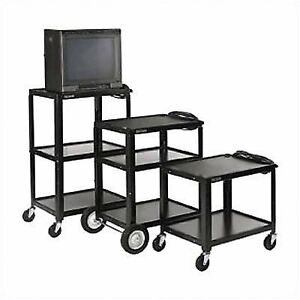 Luxor Black Metal Av Cart