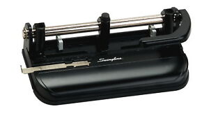 Acco Swingline 2 3 Hole Heavy Duty Punch With Lever Handle 9 32 In 32 Sheet