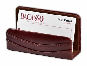 A3007 mocha leather business card holder