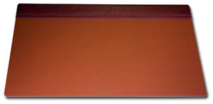 P3021 mocha leather 34 x 20 top rail desk pad