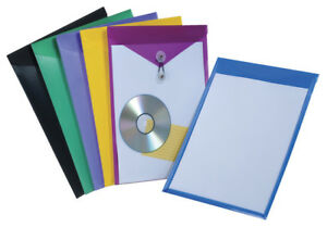 Pendaflex 078601 View Front Poly Envelopes Letter Assorted Colors Pack Of 24