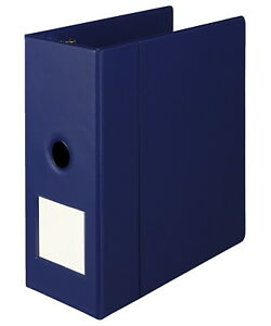 Samsill Binder W label Holder D Ring 5 In Blue
