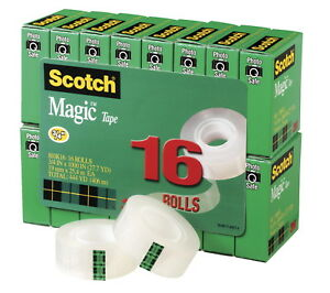 Scotch 810 Magic Photo safe Writable Self adhesive Invisible Tape With 1 In C