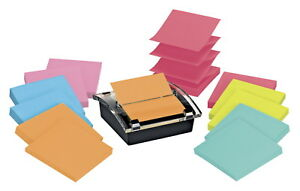 Post it Pop up Super Sticky Notes Dispenser Value Pack 3 X 3 In Assorted Co